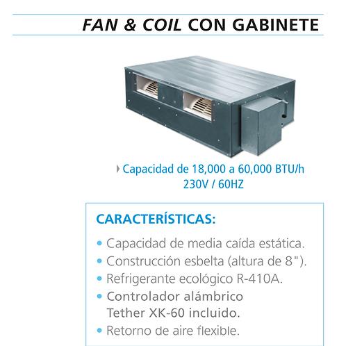 EVAPORADORA FAN & COIL MCQUAY MATCH-IT FRÍO-CALOR