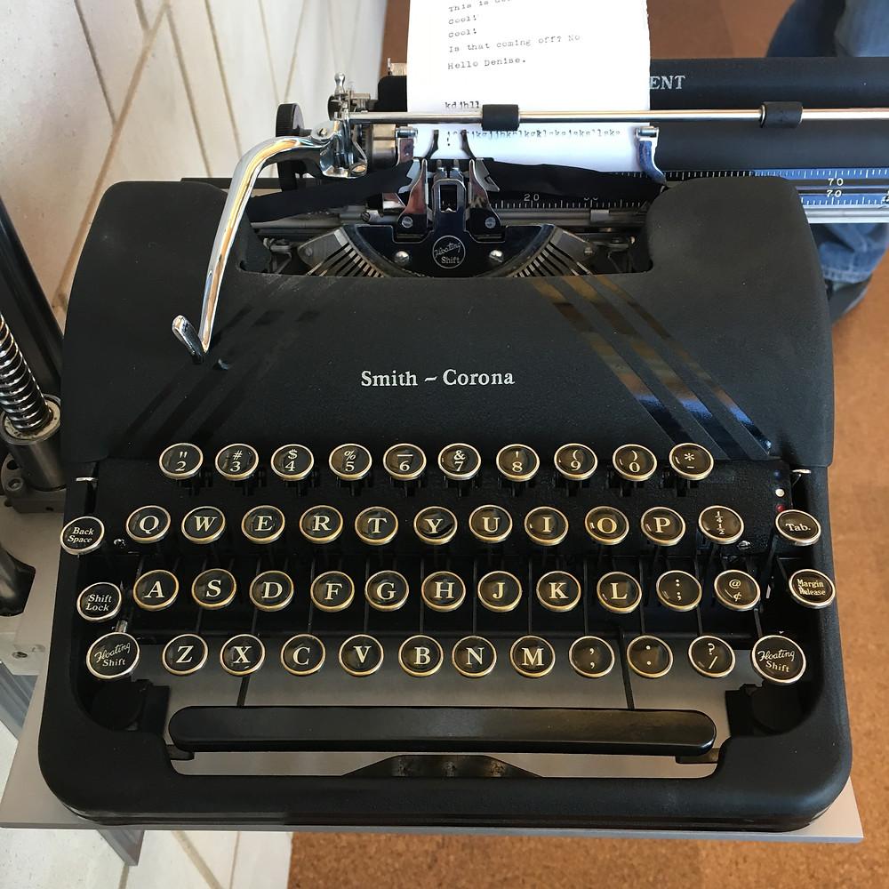 The typewriter, part of Vox Poplar.