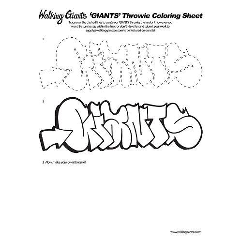 Giants Throwie (Digital File)
