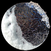 Perfusion   Φ30.0cm Acrylic mirror plate,Japanese paper,Silicon,Salt 2018