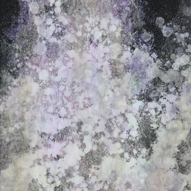 Spirituality 16-01   29.9×21.2cm Lokuta paper,Gesso,Transparent watercolor,Sumi ink,Panel 2016