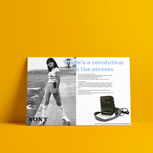 Sony - There's a revolution in the streets