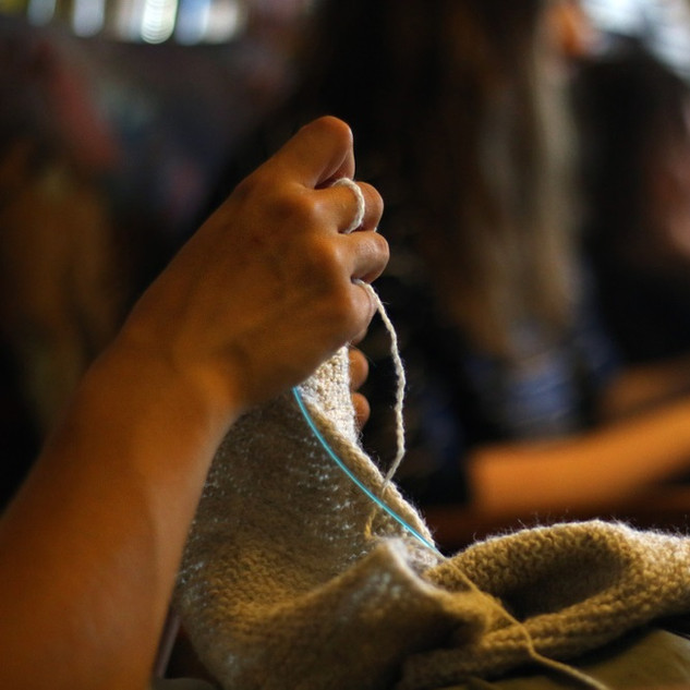 Knitting North Ronaldsay Wool