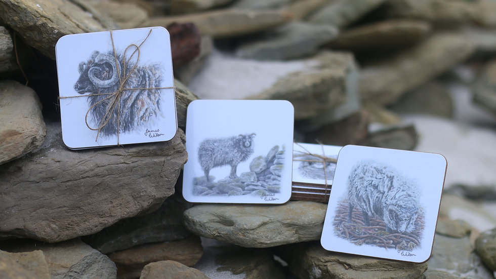 'Ronaldsay Rams' Coaster Collection by James Wilson