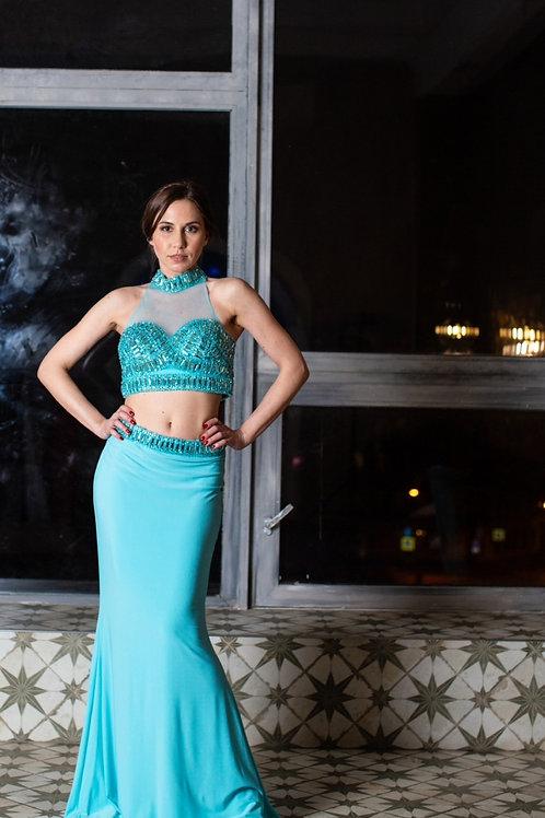 Роскошное платье,  состоящее из двух частей by Faviana