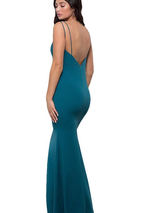 Элегантное платье в бирюзовом цвете