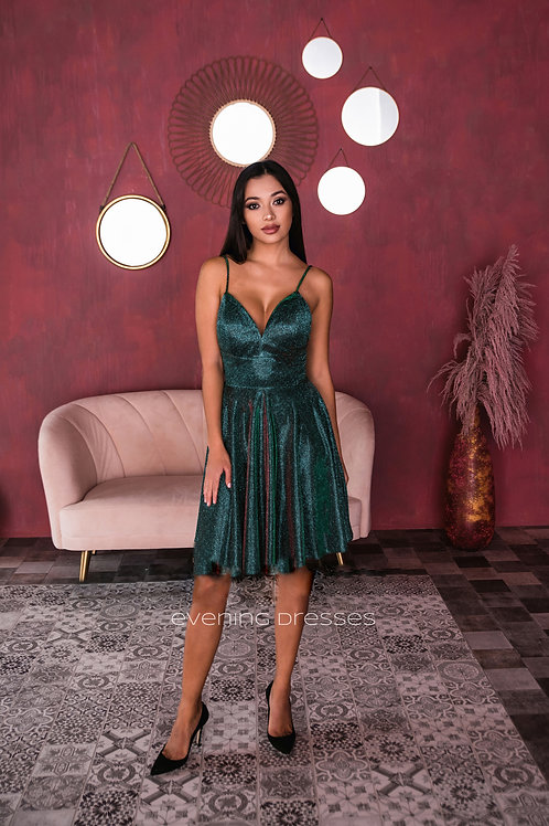 Мерцающее коктейльное платье