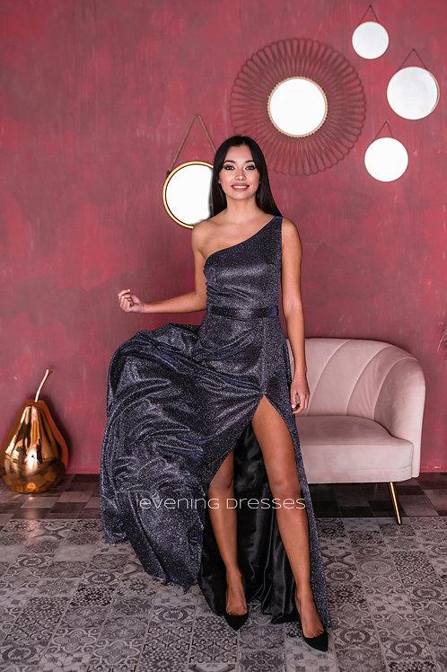 Мерцающее платье с разрезом