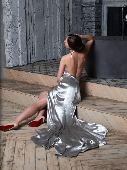 Шелковое атласное платье by Terani Couture