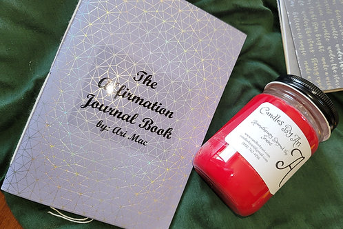 Affirmation Journal Book + 12oz Red Courage