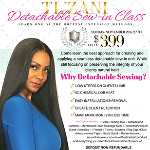 Detachable Sew-in Class | $499LEARN ONE