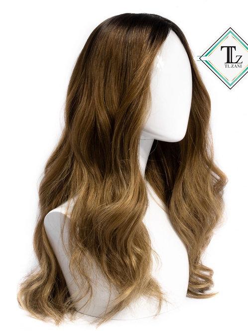 "Custom Dark Root Carmel Blond ""22"