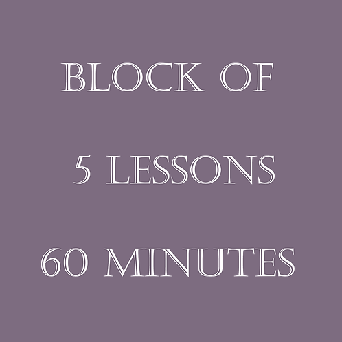 Block of 5 Lessons