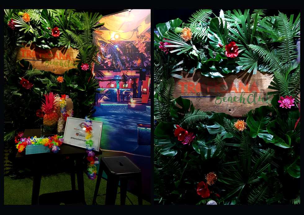 Darling Events, Tropicana Beach Club stand at 'The London Summer Events Show', Jan 2018
