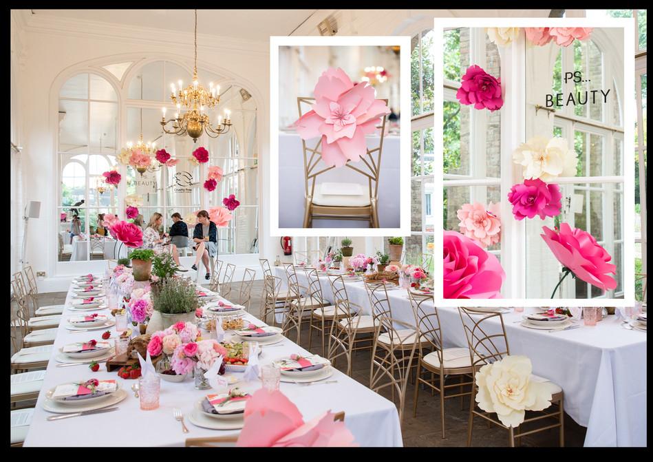 Journey Events, 'Primark beauty breakfast banquet & Q&A'; Role: Set dresser & paper flower maker