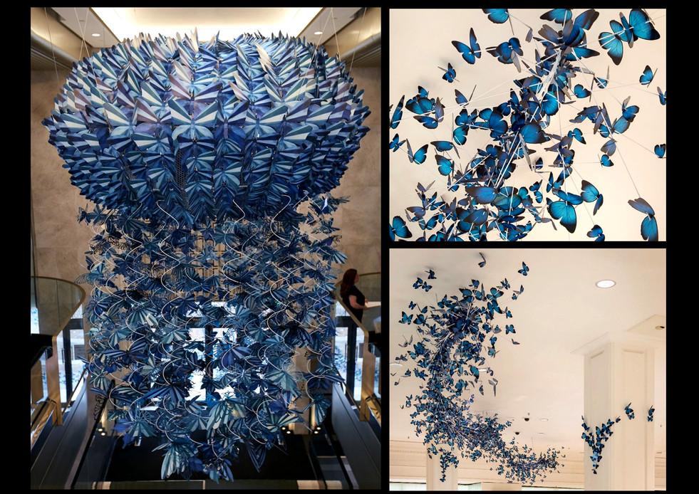 Harrods, 'Social Butterflies' by Zoe Bradley; Role: Assembling & dressing butterfly installation