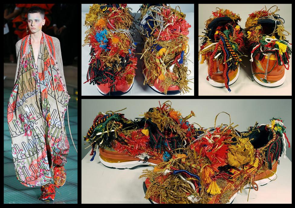 VAndreas Kronthaler for Vivienne Westwood, SS18 Collection catwalk show; Role: Embroidery designer