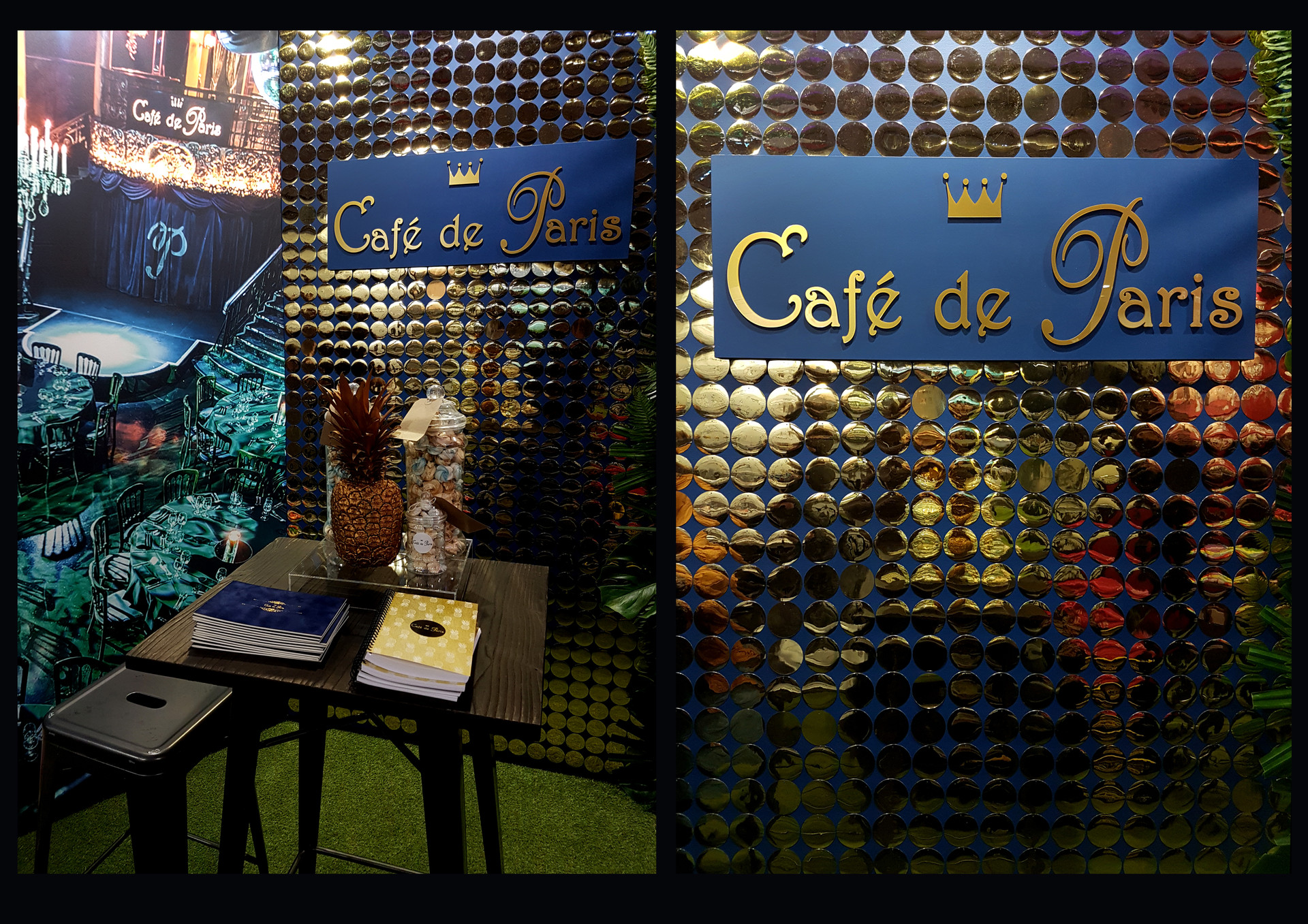 Darling Events, Cafe de Paris stand at 'The London Summer Events Show', Jan 2018