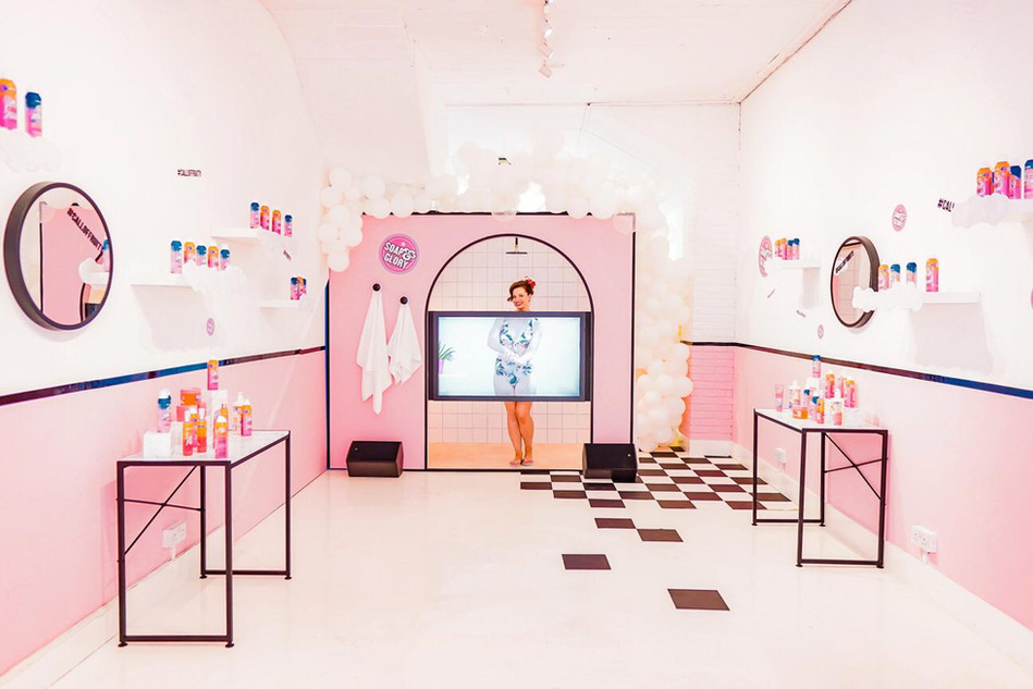 Soap & Glory, 'Call of Fruity', immersive dining experience; Role: Set dresser & buyer