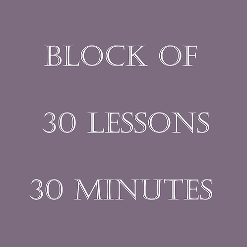 Block of 30 Lessons