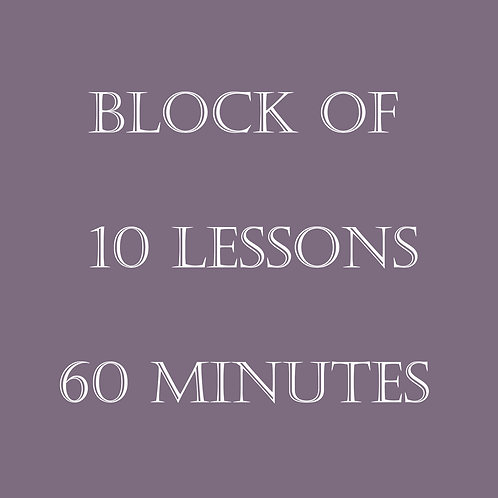 Block of 10 Lessons