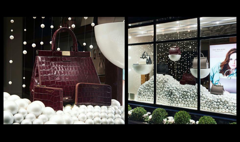 Aspinal, Christmas window display; Role: set dresser & prop maker