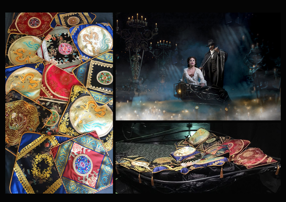 'Phantom of the Opera', touring production; Role: Embroidered cushion maker