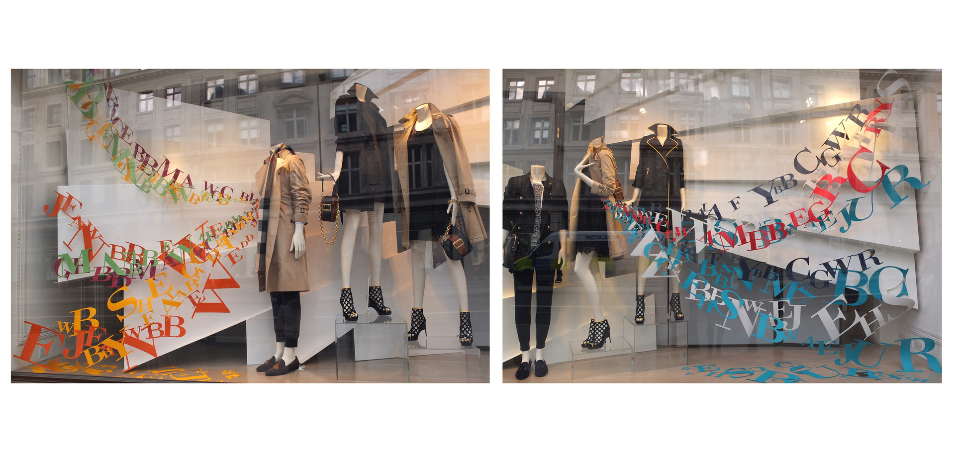 Burberry, Regent street flagship store window display, Feb 2016