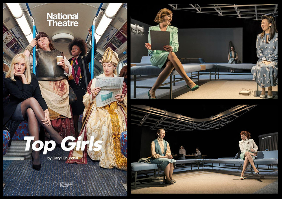 'Top Girls', National Theatre; Role: Soft furnishings prop maker & stage fitter
