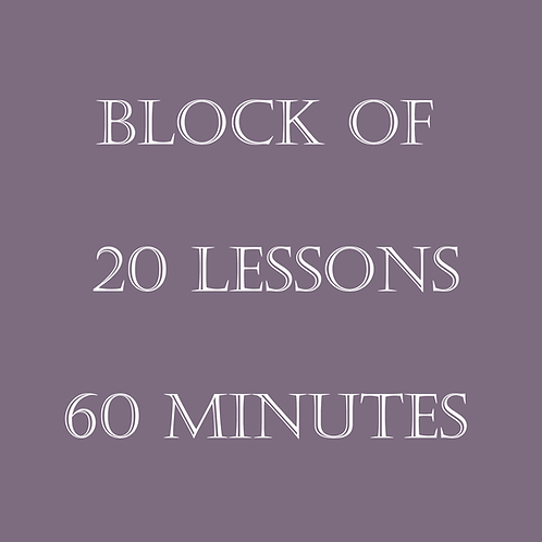 Block of 20 Lessons