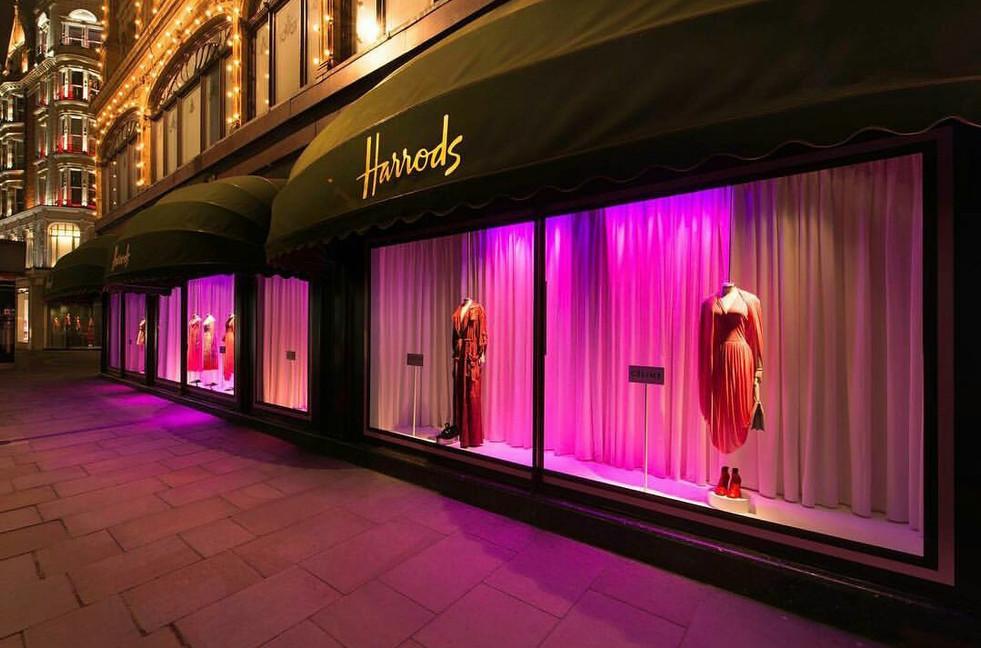 Harrods, S/S17 designer collections launch; Role: curtain maker & window dresser