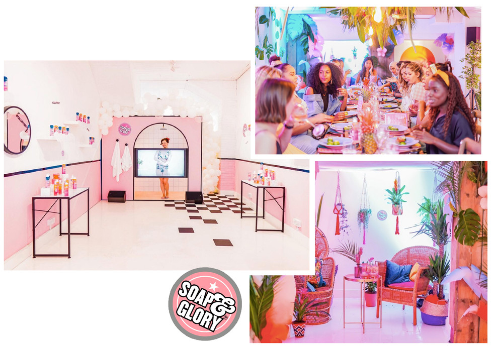Soap & Glory, 'Call of Fruity', immersive dining experience, Jul 2019