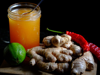 Ginger Tea for Colds and Flu