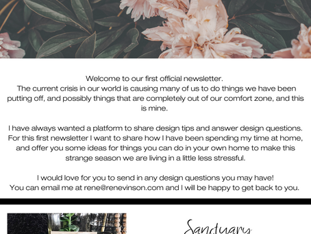 René Vinson Newsletter Issue 001