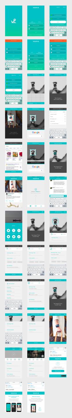 veepio app screens all