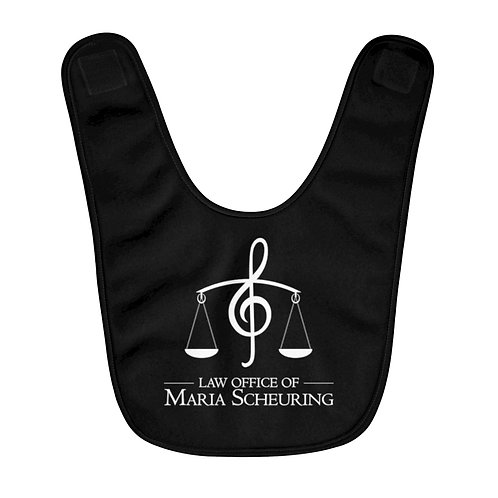 Music Logo - Fleece Baby Bib