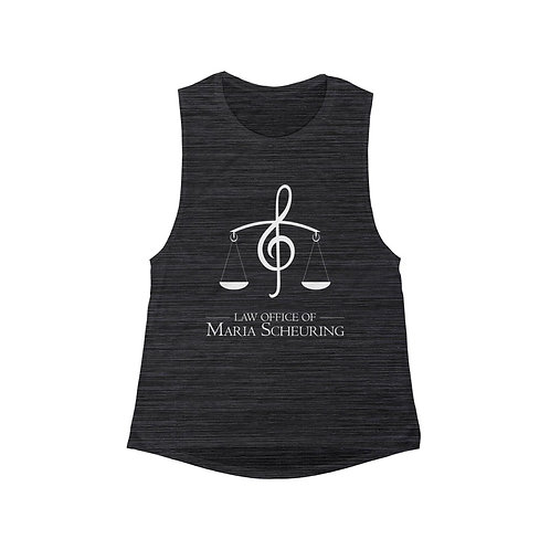 Music Logo - Women's Flowy Scoop Muscle Tank