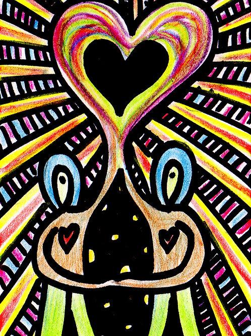 Love Champions Small Original Watercololor Sketch