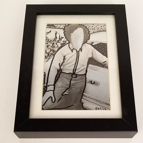 Faceless Gerald Framed Art Original