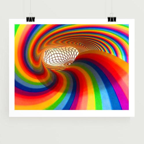 Rainbow Tunnel Art Print