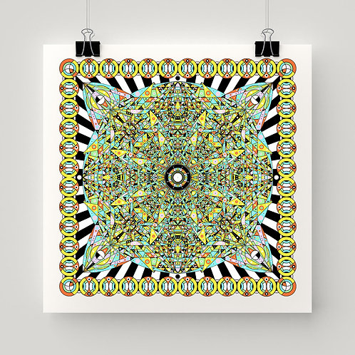 Hyperspace Glyph Art Print