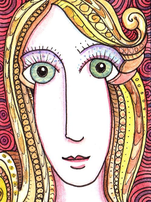 Isabelle Original Watercololor Sketch