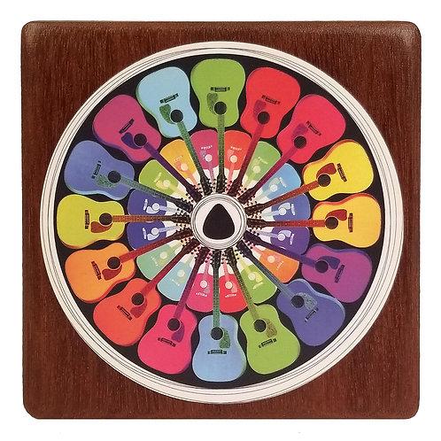 Pick a Color Art print on Mahogany Wood Block