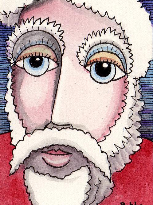 Ol'Man Winter Small Original Watercololor Sketch