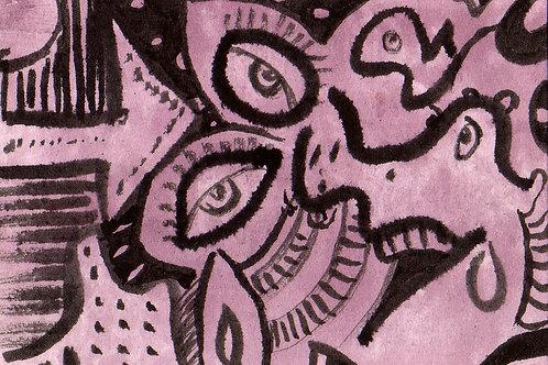Hello Tomorrow Small Original Watercololor Sketch