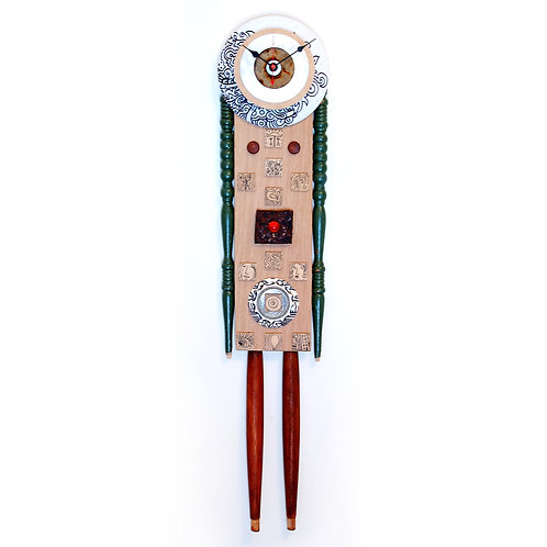 Time Standing Still Handcrafted Art Clock
