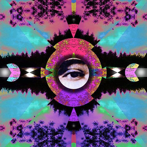"""Visionary Expansion"" digital art file based on original mixed media, digital art by Portland, Oregon, artist Justin Potts"