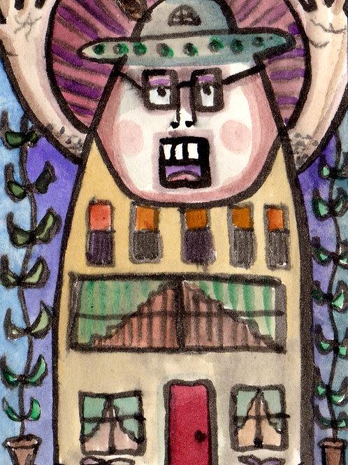 Mr. Building Original Watercololor Sketch