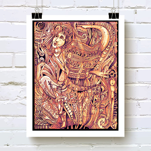 Pythia in a Frenzy Art Print