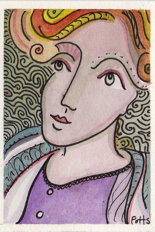 Matilda Original Watercololor Sketch